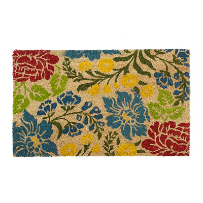 Colorful Flowers Doormat