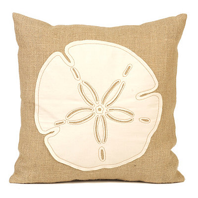 Burlap Sand Dollar Pillow