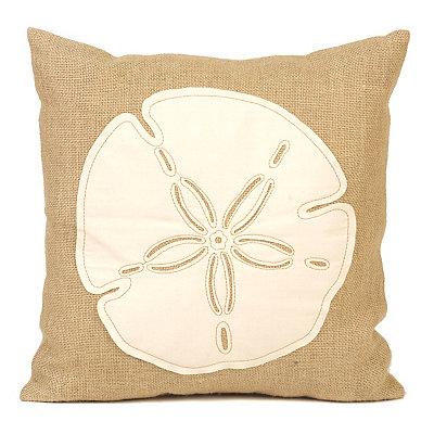 Burlap Sand Dollar Pillow