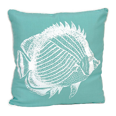 Beaded Fish Pillow