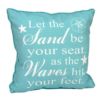 Let the Sand Be Your Seat Pillow