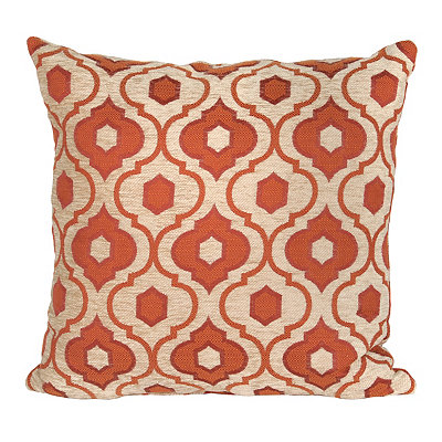 Red Mystic Quatrefoil Pillow
