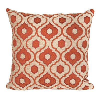 Red Mystic Quatrefoil Pillow