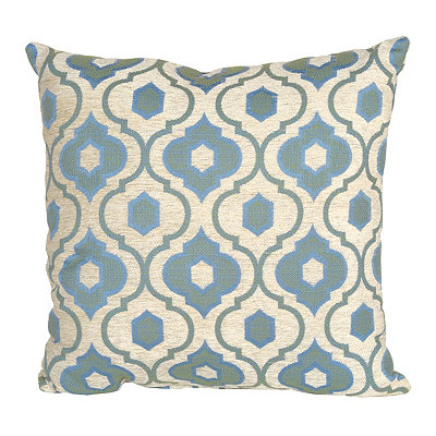Teal Mystic Quatrefoil Pillow