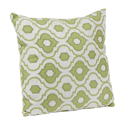 Green Mystic Quatrefoil Pillow