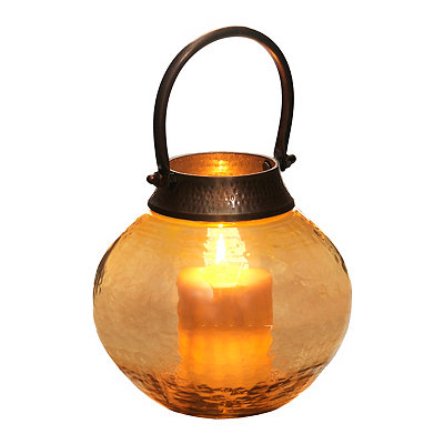 Amber Glass Kingston Lantern