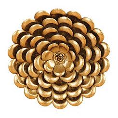 Metallic Gold Flower Metal Plaque, 20 in.