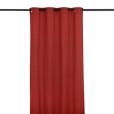 Solid Red Outdoor Curtain Panel, 96 in.