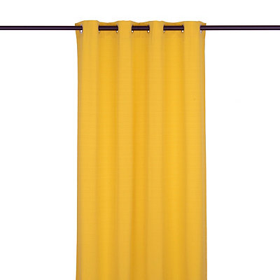 Solid Yellow Outdoor Curtain Panel, 96 in.