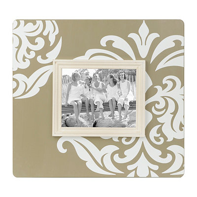 Tan Damask Picture Frame, 8x10