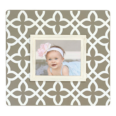 Taupe Trellis Picture Frame, 8x10
