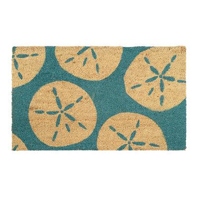 Turquoise Sand Dollar Doormat