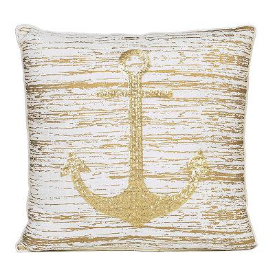 Metallic Anchor Pillow