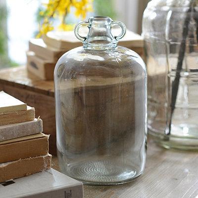Aqua Glass Jug Vase