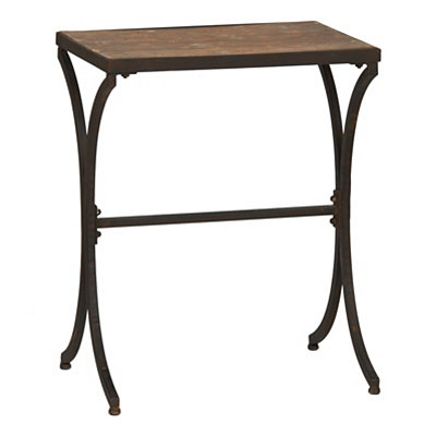 Distressed Walnut Accent Table