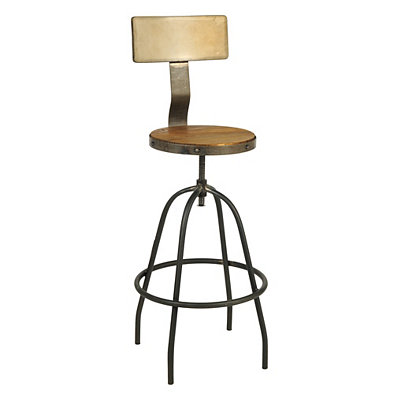 Brown Industrial Bar Stool