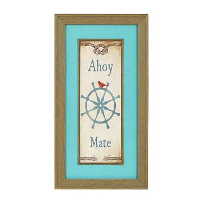 Ahoy Mate Framed Art Print
