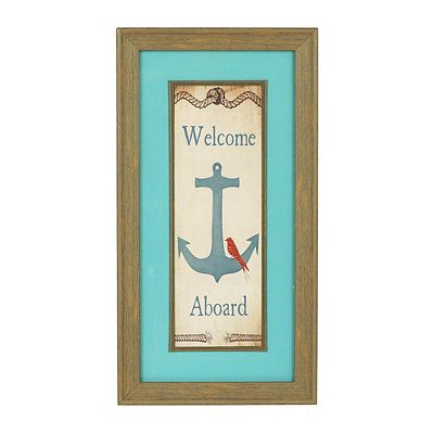 Welcome Aboard Framed Art Print