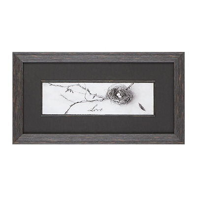 Love Bird's Nest Framed Art Print