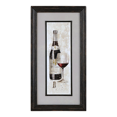 Red Wine Bottle Sketch Framed Art Print