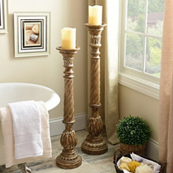 Honey Spiral Floor Candle Holder, 42 in.
