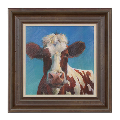 Brown Cow Framed Art Print