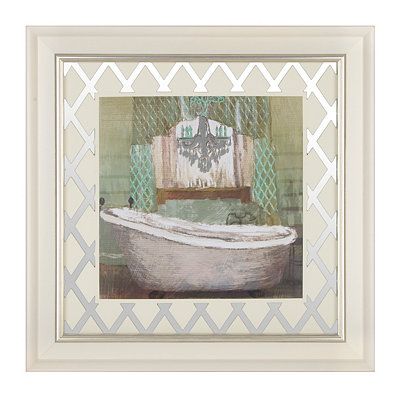 Glam Bathroom II Framed Art Print