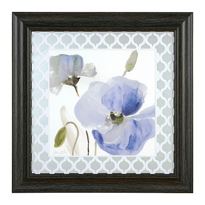 Watercolor Blue Poppy I Framed Art Print