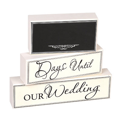 Wedding Countdown Blocks, Set of 3