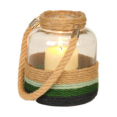 Ombre Rope-Wrapped Lantern