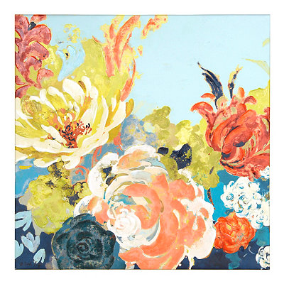 Gallant Floral Garden Canvas Art Print