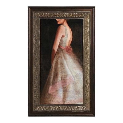 Romantic White Dress Framed Art Print