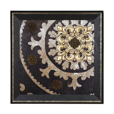 Black And Gold Medallion Shadowbox