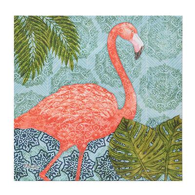 Bahama Flamingo I Canvas Art Print