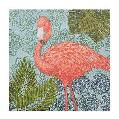 Bahama Flamingo II Canvas Art Print