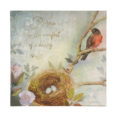 Rejoice in a Happy Nest Canvas Art Print