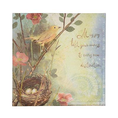 May Joy Lift Your Wings Canvas Art Print
