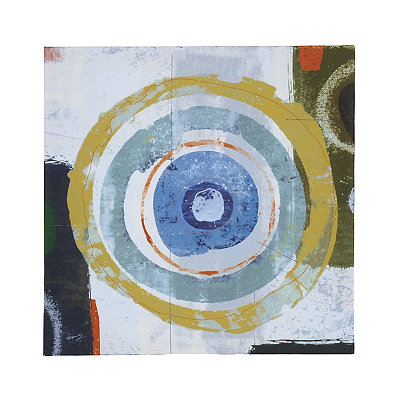 Abstract Blue Circles I Canvas Art Print