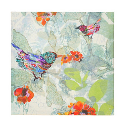 Colorful Bird Burst Canvas Art Print