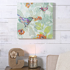 Colorful Bird Burst Canvas Art Print