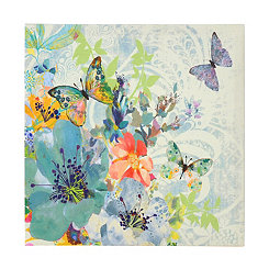 Colorful Butterfly Burst Canvas Art Print