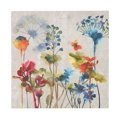 Colorful Flowers I Canvas Art Print