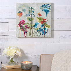 Colorful Flowers I Canvas Art Print