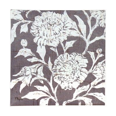 Gray Jardin Floral Canvas Art Print