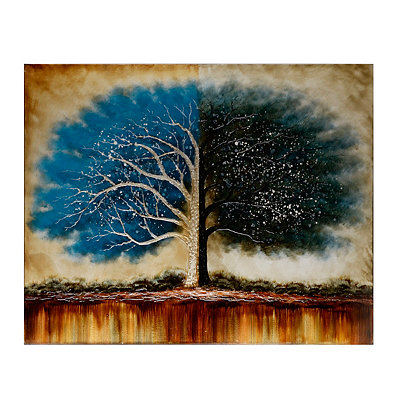 Blue Tree of Life Canvas Art Print