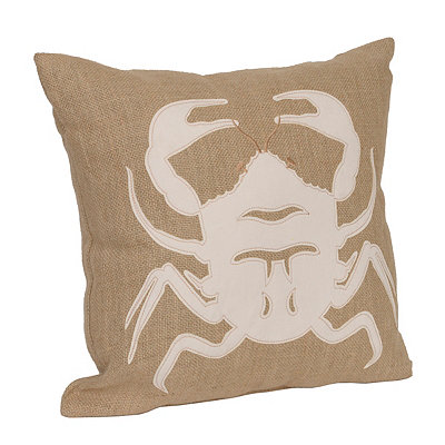 Burlap Crab Pillow