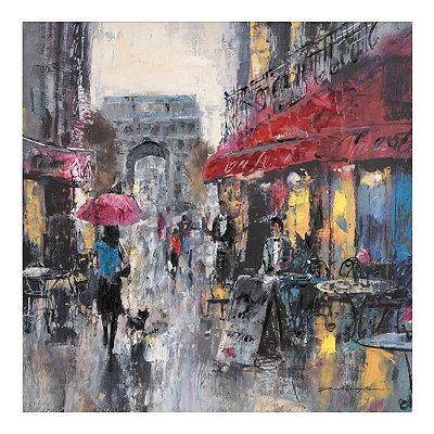 Modern Parisian Cafe I Canvas Art Print