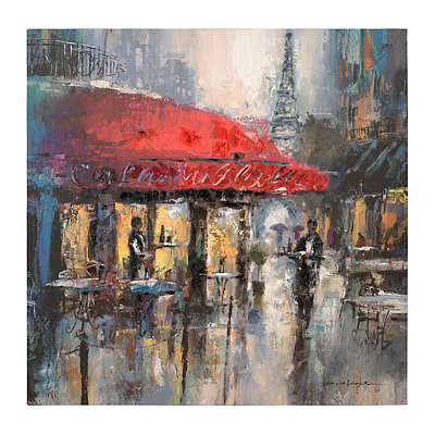 Modern Parisian Cafe II Canvas Art Print