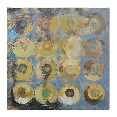Blue Abstract Circles Canvas Art Print