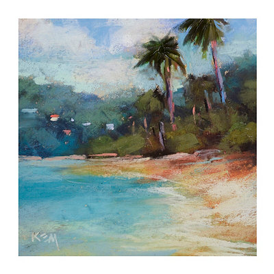 Coastal Palm Tree Canvas Art Print